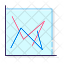 Line Chart Scatter With Straight Lines Scatter Lines Icon