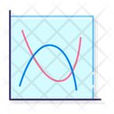 Line Chart Scatter With Smooth Lines Scatter Icon