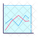Line Chart Line Graph Growth Chart Icon