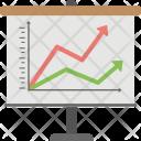 Line Run Charts Icon