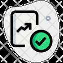 Line Chart Check Icon