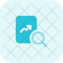 Line Chart Paper Repeat Growth Chart Analysis Report Icon