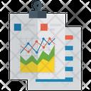 Line Graph Data Analytics Statistics Icon