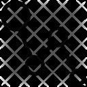 Line Graph Zigzag Icon