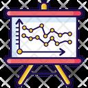 Line Graph Data Presentation Graphical Presentation Icon