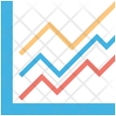 Line Graph Infographic Icon