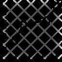 Line Graph Business Graph Line Chart Icon