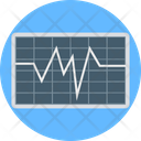 Heartbeat Line Graph Infographic Icon