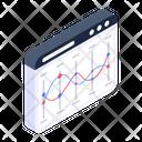 Line Chart Line Graph Online Statistics Icon