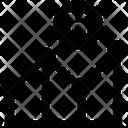Line Graph Bitcoin Analysis Bitcoin Chart Icon