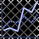 Line Graph Data Icon