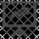 Line Graph Presentation Icon