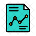 Line Graph Report Marketing Report Business Report Icon