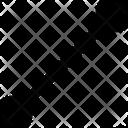 Line Segment Vector Design Isolated Icon