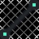 Line Segment Vector Line Icon