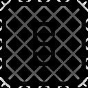 Line Through Icon