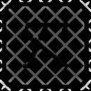 Line Through Italic Icon