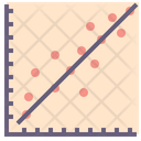 Linear Regression Function Icon