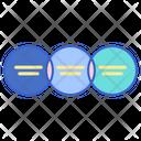 Linear Venn Icon