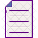 Lined Papers Icon