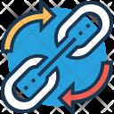Linkage Arrows Processing Icon