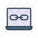 Laptop Link Device Icon
