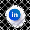 Linkdn Social Media Communication Icon