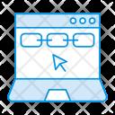 Laptop Online Internet Icon