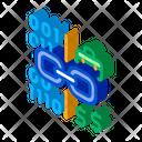 Linking Binary Code Icon