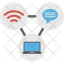 Links Media Connection Media Network Icon