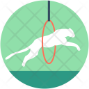 Lion Jumping Hoop Icon