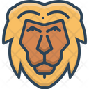 Lion Face Animal Icon