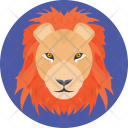 Lion Cartoon Face Icon