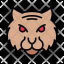 Lion Face Zoo Icon