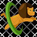 Lion Train Circus Icon