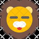 Lion Closed Eyes Icon