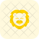 Lion Closed Eyes Icon