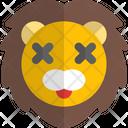 Lion Death Animal Wildlife Icon