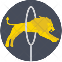 Lion Jumping Icon