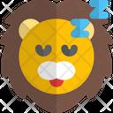 Lion Sleeping Animal Wildlife Icon