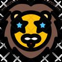 Lion Star Struck Icon