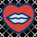 Heart Kiss Lip Icon