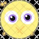 Lips Sealed Emoji Mouth Closed Emoji Silent Emoji Icon
