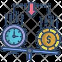 Liquidity Money Balance Scale Icon