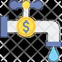 Liquidity Money Faucet Financial Icon