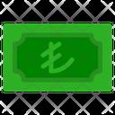 Lira Banknote Country Icon