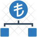 Lirahierarchy Structure Connection Icon