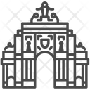 Lisbon Arch Triumphal Arch Architecture Icon