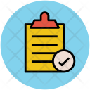 List Verified Clipboard Icon