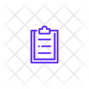 List Clipboard Medical Report Icon